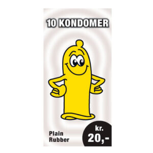 10 kondomer for 20 kr.