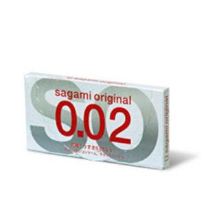 2 stk. Sagami orginal 0.02 kondomer