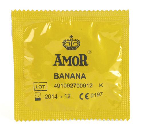 AMOR - Banana kondom 1 stk