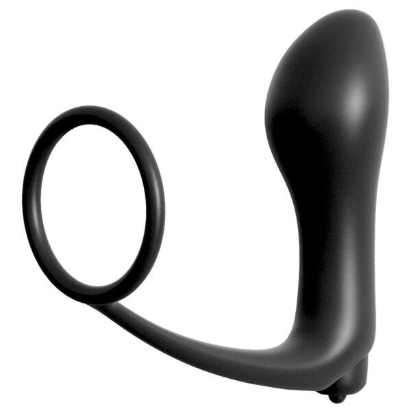 Anal Fantasy Ass-Gasm Penisring med Vibrerende Anal Plug