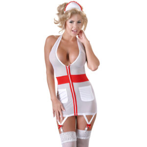 Cottelli Sygeplejerske Uniform med Strømpeholder-Small