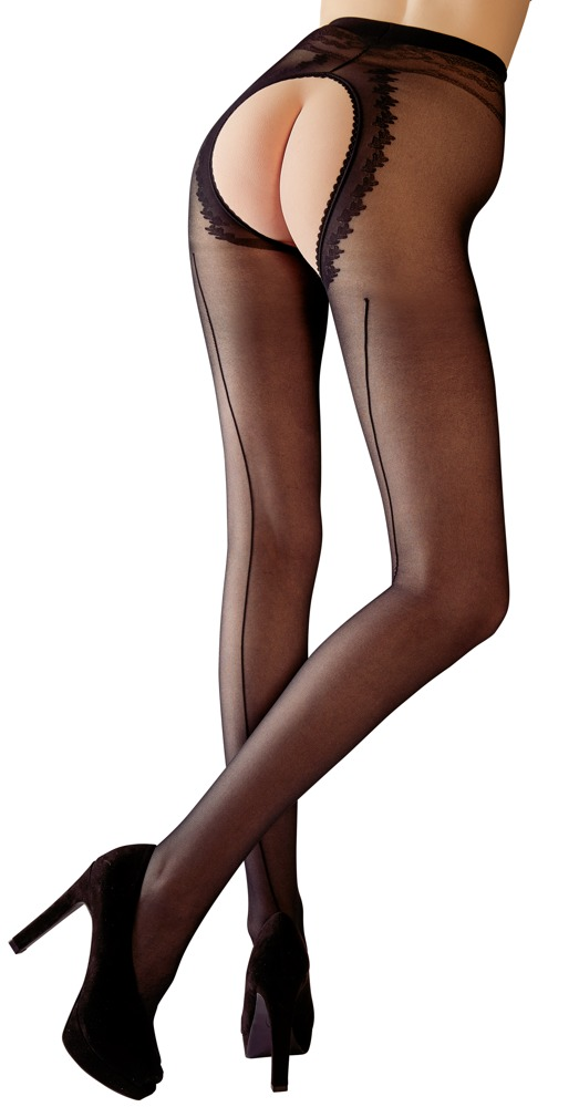 Crotchless Tights, with decorative seam