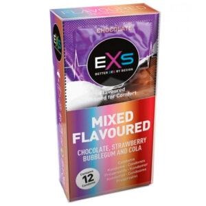 EXS Kondomer med Smag 12 stk