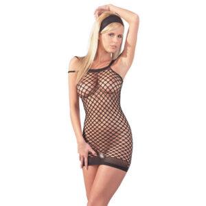 Fræk kjole i sort net