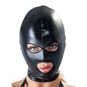 Latex maske med hul til øjne og mund