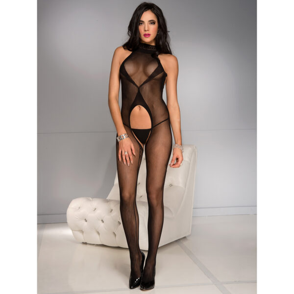 Music Legs Cut Out Bodystocking