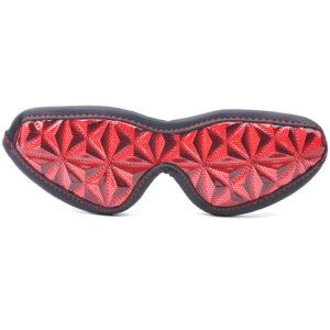 Rødt mønstret blindfold