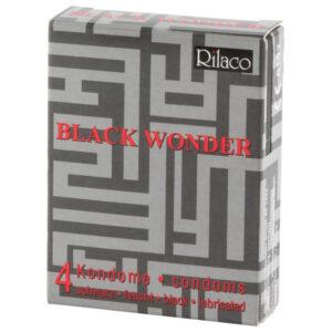 Rilaco Black Wonder Sorte Kondomer 4 stk