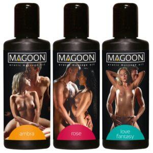 Tre erotiske massageolier som sæt