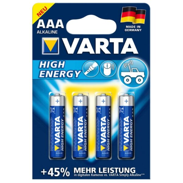 VARTA high energy aaa batterier 4stk