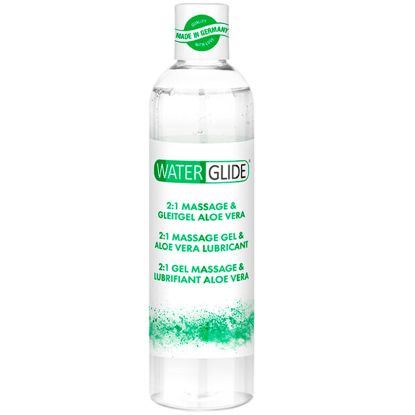 Waterglide Aloe Vera 2-i-1 Massageolie og Glidecreme 300 ml