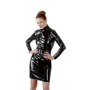 Black Level - Lak Kjole Med Bælte