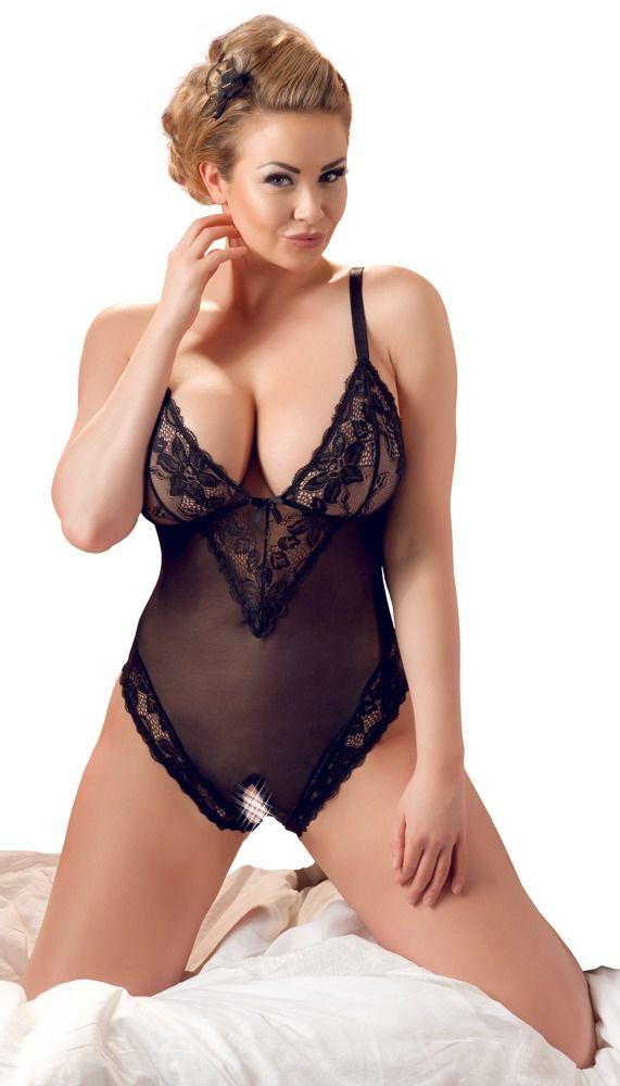Cottelli Collection - Bundløs Blonde-Body Plus Size