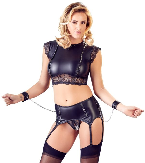 Top and Crotchless Suspender Briefs