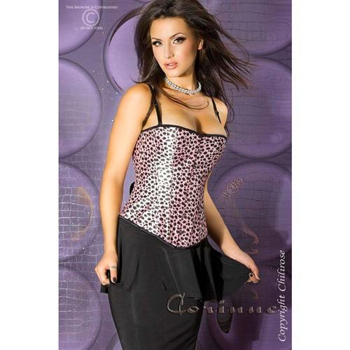 Pink leopard fest corsage - S