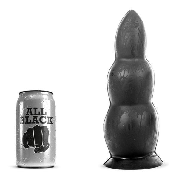 All Black 37 - Stor Dildo Med Buler