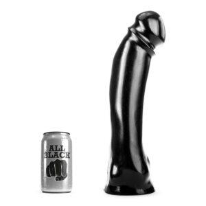 All Black 50 - Stor Dildo Med Knæk