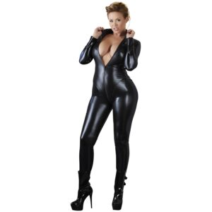 Cottelli Wetlook Catsuit Plus Size