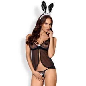 Obsessive Black Bunny Kostume