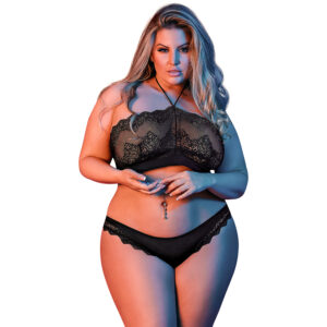 Magic Silk Halterneck BH Sæt Plus Size