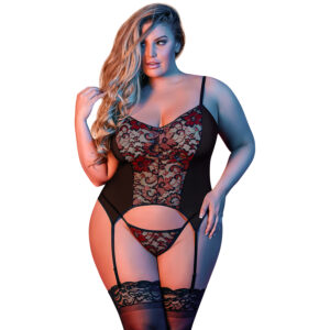 Magic Silk Merry Widow Chemise Sæt Plus Size