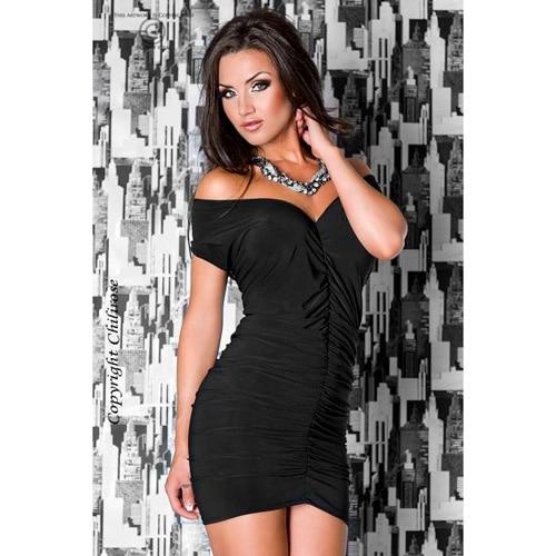 Smuk sort kort kjole - L/XL