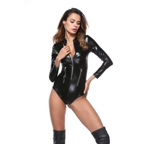 Body Pleasure Bodystocking kostume i latex - S/M