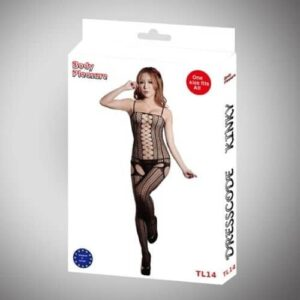 Body Pleasure Sort catsuit med snøre