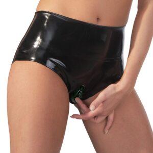 Slip ud af latex med integreret kondom