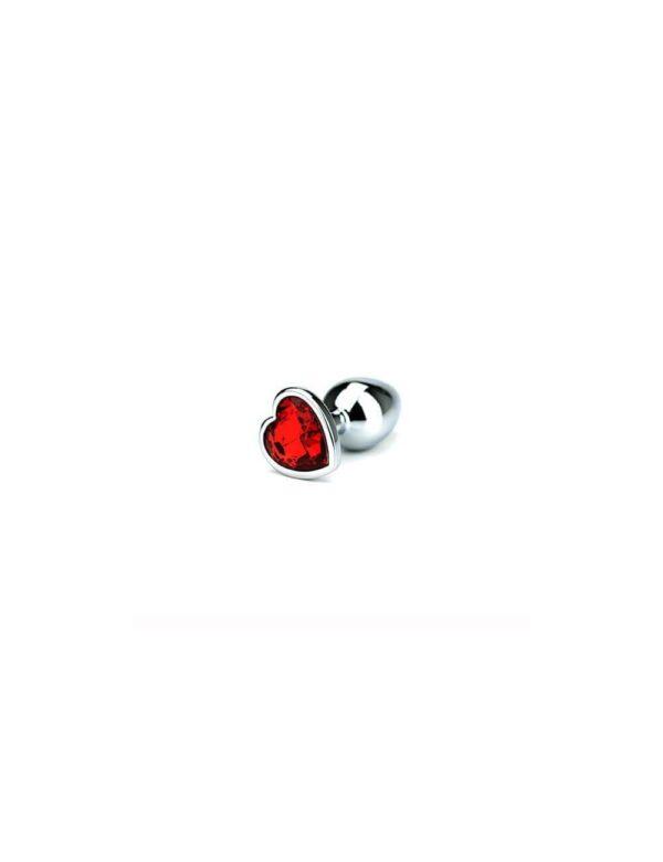 Toria - Jewel Heart Butt Plug Small