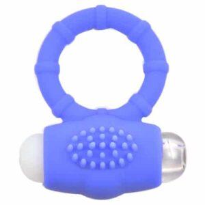 Blå penisring med vibrator