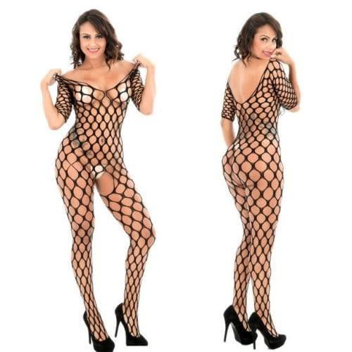 Body Pleasure Catsuit i fish net