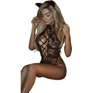 Body Pleasure Halterneck blonde bodystocking