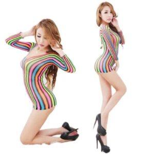 Body Pleasure Multi-stribet kjole