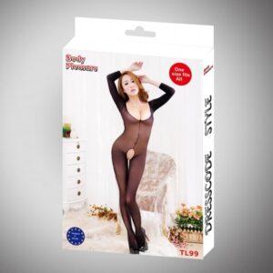 Body Pleasure Nylon catsuit med lange ærmer