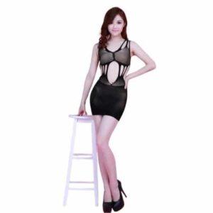 Body Pleasure sexet kjole i sort