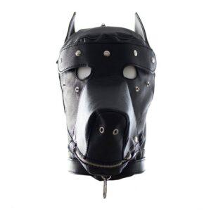 Kinky hunde maske med halsbånd