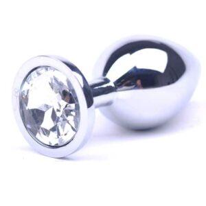Metal plug med diamant - Large
