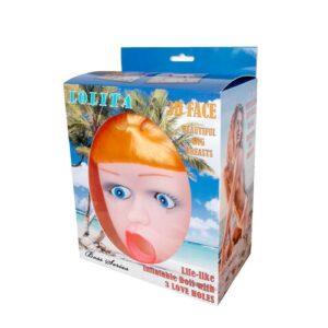 Sexdukke med 3D ansigt