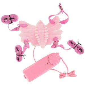 Butterfly Massager Strap-On Vibrator Pink