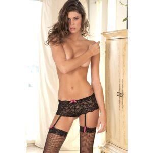 Crotchless Lace Boyleg M/L - Small/Medium