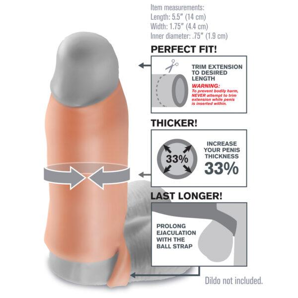 Fantasy X-tensions Real Feel Enhancer Penis Sleeve
