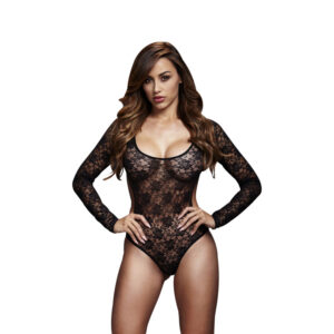 Baci Blonde Bodystocking i Sort