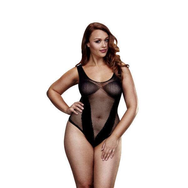 Baci Plus Size Fishnet Bodystocking