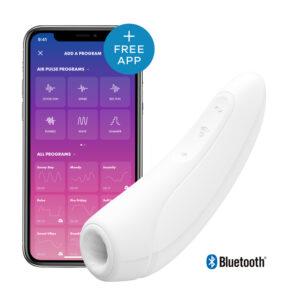 Satisfyer Curvy 1+ Klitoris Stimulator og Vibrator - Hvid