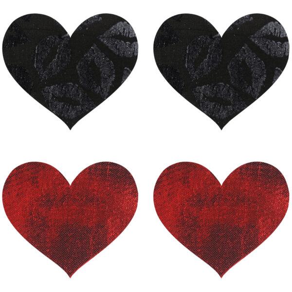 Peekaboos Nipple Stickers Hjerte Rød 2 pak