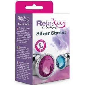 Silver Star Anal Plug L - Blå